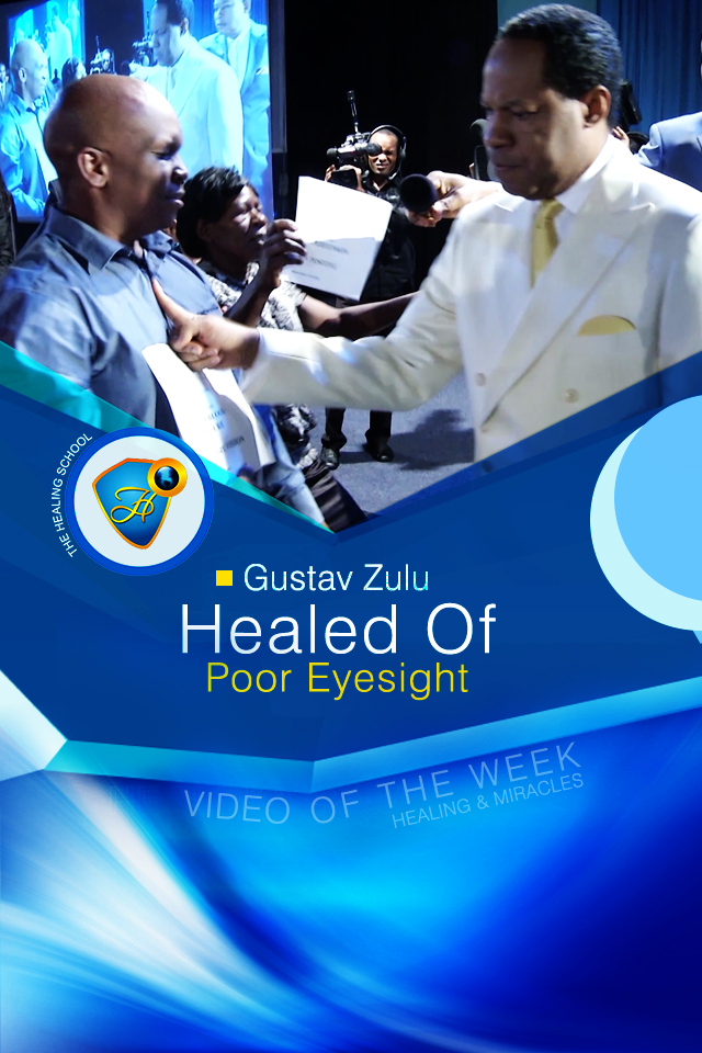 Healed of poor eyesight