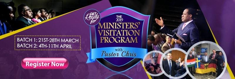 Ministers Visitation Program Registration Banner